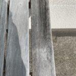 無塗装の状態で一年経過した木材