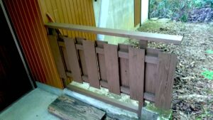施工完了塀木部